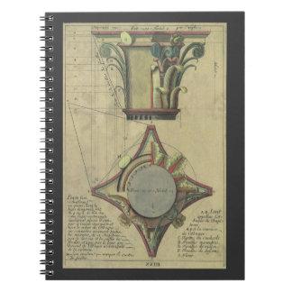 Vintage Architecture Decorative Capital Crown Spiral Note Book
