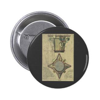 Vintage Architecture Decorative Capital Crown Pins