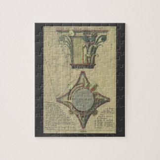 Vintage Architecture, Decorative Capital Crown Jigsaw Puzzle