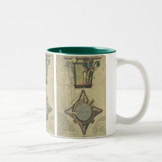 Vintage Architecture, Decorative Capital Crown Two-Tone Coffee Mug