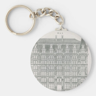 Vintage Architecture, Delaware & Hudson Canal Co. Key Ring