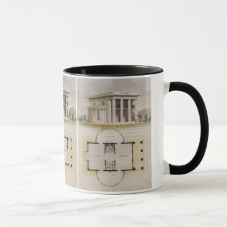 Vintage Architecture, Floor Plan and Greek Villa Mug
