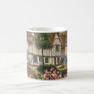 Vintage Architecture Formal Garden English Cottage Basic White Mug