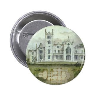Vintage Architecture French Chateau Floor Plans Pinback Button