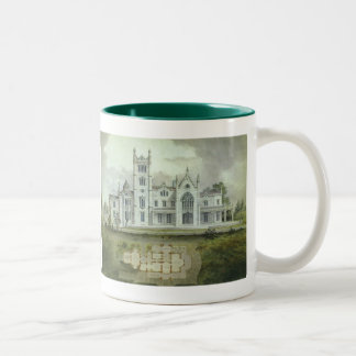 Vintage Architecture, French Chateau Floor Plans Two-Tone Coffee Mug
