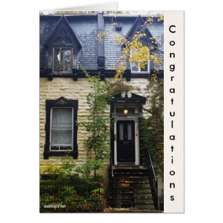 Vintage architecture photography card
