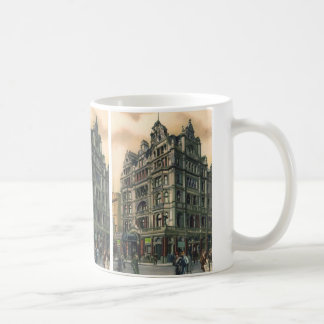 Vintage Architecture Queens Hotel Leicester Square Basic White Mug