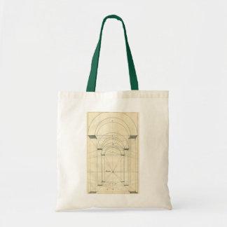 Vintage Architecture, Renaissance Arch Perspective Budget Tote Bag
