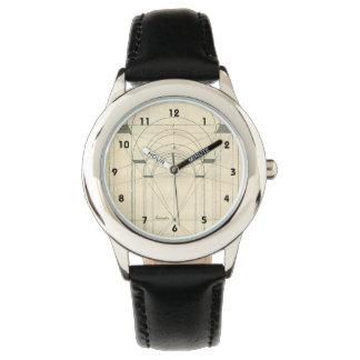 Vintage Architecture, Renaissance Arch Perspective Wrist Watches