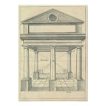 Vintage Architecture, Roman Portico with Columns Poster