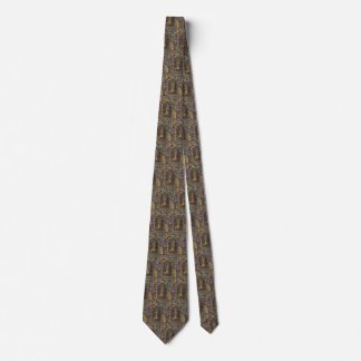 Vintage Architecture, Stained Glass Church Window Tie