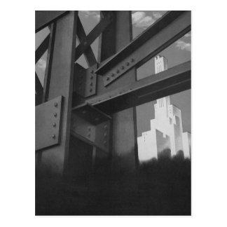 Vintage Architecture Steel Construction Skyscraper Postcard