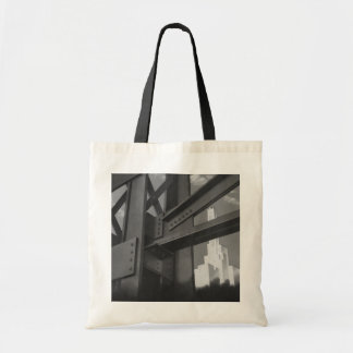Vintage Architecture Steel Construction Skyscraper Budget Tote Bag