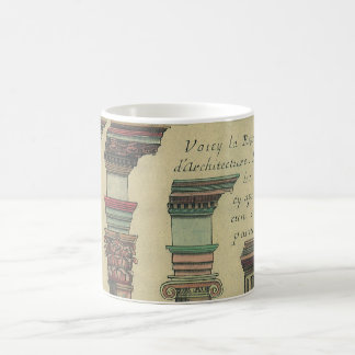Vintage Architecture, the 5 Architectural Orders Coffee Mug