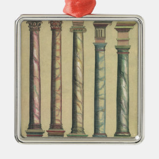 Vintage Architecture, the 5 Architectural Orders Christmas Ornaments