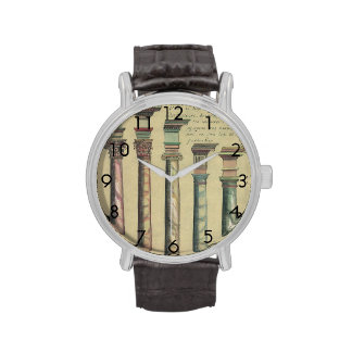 Vintage Architecture, the 5 Architectural Orders Wrist Watch