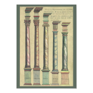 Vintage Architecture, the 5 Architectural Orders Custom Invites