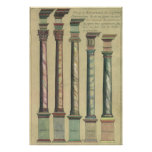 Vintage Architecture, the 5 Architectural Orders Poster
