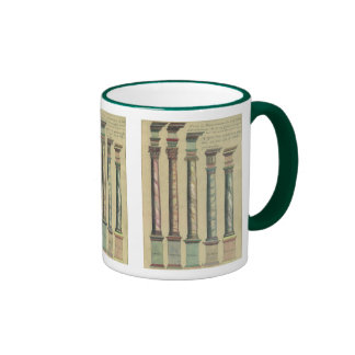 Vintage Architecture, the 5 Architectural Orders Ringer Mug