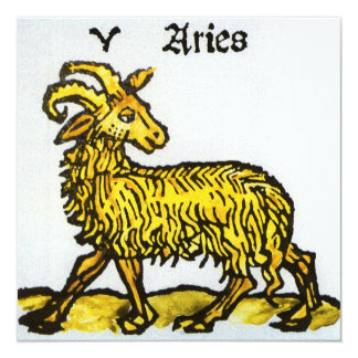 Vintage Aries, Ram; Antique Signs of the Zodiac Announcements