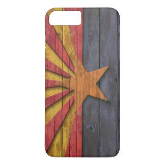 Vintage Arizona Flag Distressed Wood Look iPhone 7 Plus Case