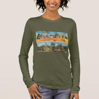 Vintage Arizona Postcard Collage Long Sleeve T-Shirt