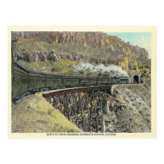 Vintage Arizona Train Postcard