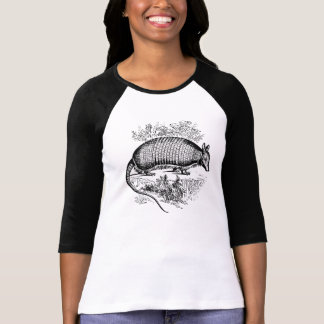 Vintage Armadillo Antique Woodblock Artisan T-Shirt
