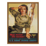 Vintage Army Nurse Corps Posters