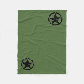 Vintage Army Star Blanket