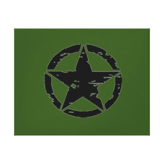 Vintage Army Star Photo Canvas Prints