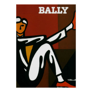 Vintage Art Bally Shoes Villemot Poster Print