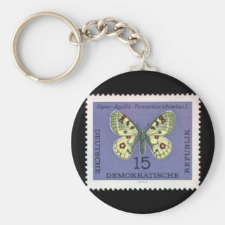Vintage Art Collection Basic Round Button Key Ring