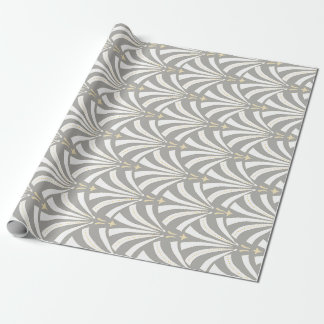 Vintage Art Deco 1920s Roaring Twenties Fans Wrapping Paper