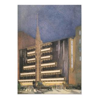 Vintage Art Deco Architecture, Building in NYC Custom Invite