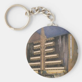 Vintage Art Deco Architecture, Building in NYC Key Chains