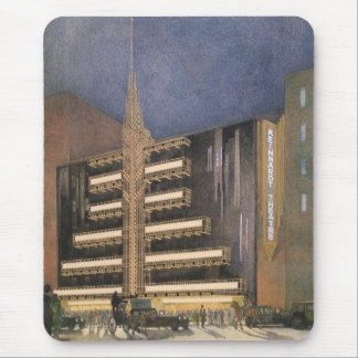 Vintage Art Deco Architecture, Building in NYC Mouse Pad