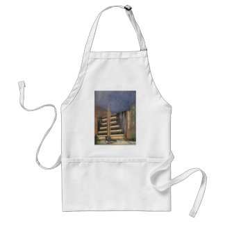 Vintage Art Deco Architecture, Building in NYC Standard Apron