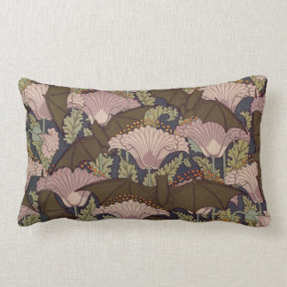Vintage Art Deco Bat and Flowers Throw Cushion
