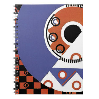 Vintage Art Deco Bold Abstract Gifts Spiral Notebook
