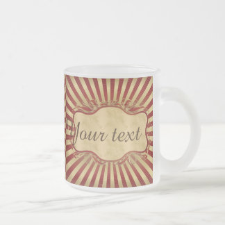 Vintage,art deco,burgundy,gold,nouveau,chic,girly, frosted glass mug