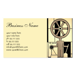 Vintage Art Deco Business, Machine Worker Wheels Pack Of Standard Business Cards