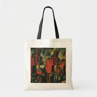 Vintage Art Deco Business, Manufacturing Workers Budget Tote Bag