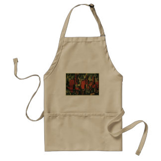 Vintage Art Deco Business, Manufacturing Workers Standard Apron