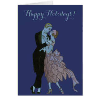Vintage Art Deco Christmas, Newlyweds Dance Card