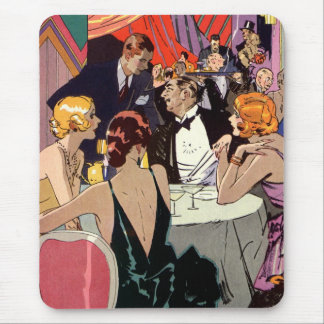 Vintage Art Deco Cocktail Party at Nightclub Mouse Pad