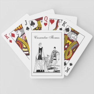 Vintage Art Deco Fashionable Ladies at the Beach Playing Cards