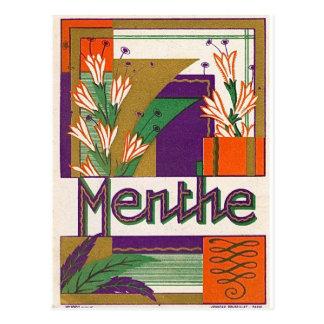 Vintage Art Deco French Liquor Label Postcard