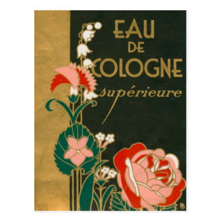 Vintage Art Deco French Perfume Label Postcard
