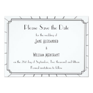 Vintage Art Deco Gatsby Style Save the Date Card
